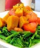 西红柿拌菠菜的做法