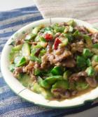 时菜炒牛肉的做法