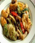 豆腐泡炒白菜的做法