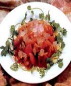 西红柿拌芦荟的做法