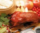 清蒸枣梨酿鸭的做法