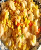 玉米烩虾仁的做法