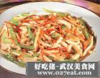 豆腐干丝炒甜椒的做法
