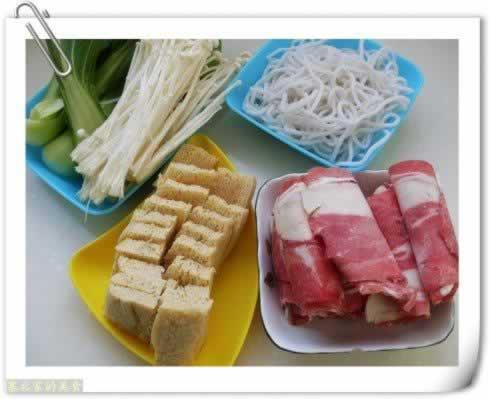 做,做金针菇冻豆腐肥牛锅,图解详细步牛腩炖绿豆图片
