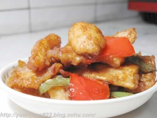 图解 鱼片 回锅/这个回锅鱼片,肉质嫩,刺少。豆瓣酱和生抽使鱼片咸鲜,非常...