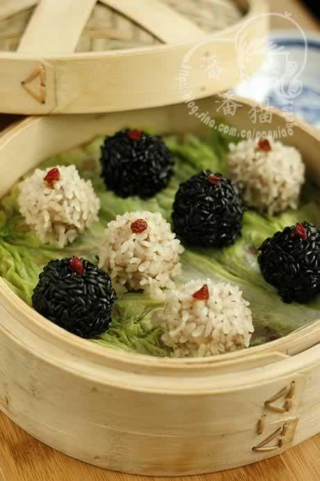 黑白珍珠丸子的做法(荤菜)