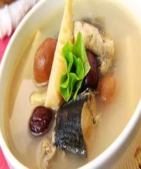 山竹石斛生鱼汤的做法