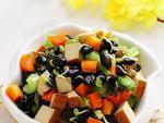如何做,怎样做有机黑豆嘴儿炒芹菜胡萝卜丁,图解详细步骤