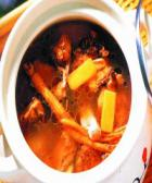 人参石膏鸡肉汤的做法