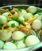 鹌鹑蛋鸡丝汤的做法