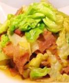 肉片炒卷心菜的做法