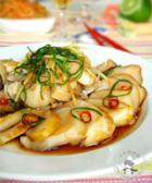 葱拌活海螺的做法