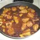 桃子黑豆莎莎酱配猪肉的做法