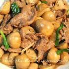 蚝油草菇牛肉的做法