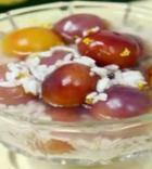 酒酿樱桃葡萄羹的做法