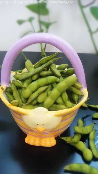 图解 绿色 毛豆/煮毛豆原料:毛豆一斤