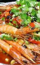铁板串烧虾的做法