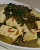 雪菜炖豆腐的做法