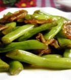四季豆炒香肠的做法