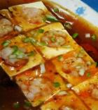 虾仁梅香豆腐的做法