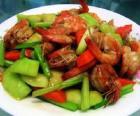 香瓜炒虾的做法