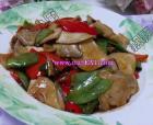 杏鲍菇炒荷兰豆的做法