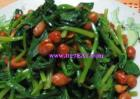 菠菜花生米的做法