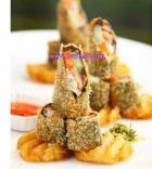 沙拉鳕鱼卷的做法