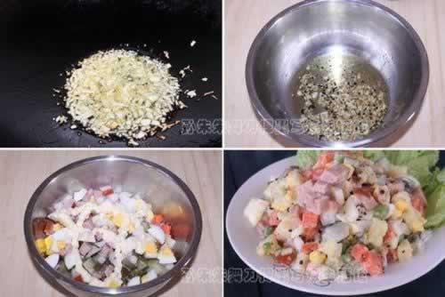 俄式红肠沙拉的做法