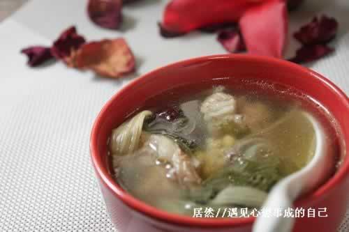 菜干黄豆煲猪盖骨的做法