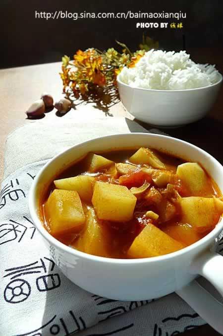 番茄烩土豆的做法