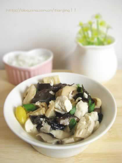 香菇什锦豆腐的做法