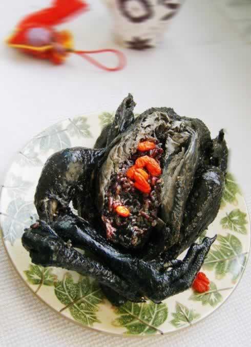 紫米乌鸡饭的做法