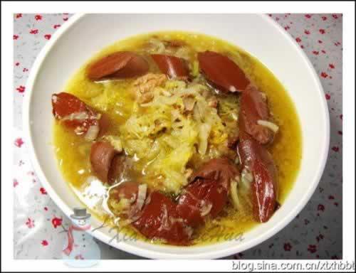 排骨酸菜烫酸菜_血肠血肠烫做法的排骨生蚝能用微波炉做图片