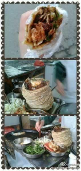 薄脆却嚼劲十足的卤肉大饼 感觉太到位了