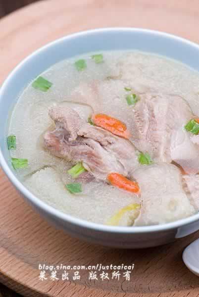 竹荪排骨保肝降脂汤的做法