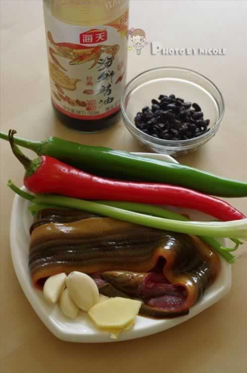 双色豉椒溜鳝片的做法