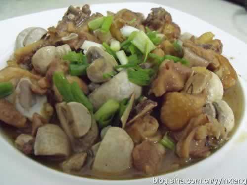 口蘑炒鸡的做法