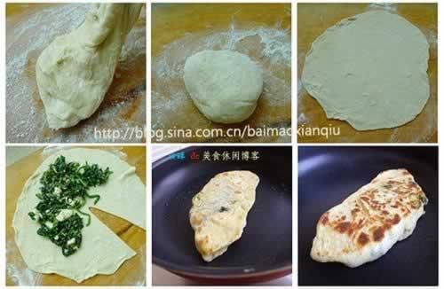 菠菜奶酪饼的做法