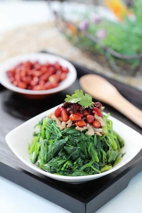 陈醋菠菜花生米的做法,怎么做,如何做,图解详细步骤