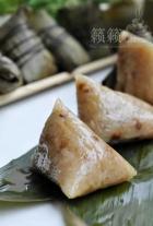绿豆花生鲜肉粽的做法