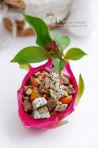 火龙果燕麦牛肉粒的做法