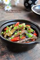 豆豉鲮鱼茄子煲的做法