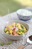 蚕豆鸡蛋炒北极虾的做法