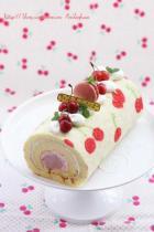 樱桃手绘双层蛋糕卷的做法