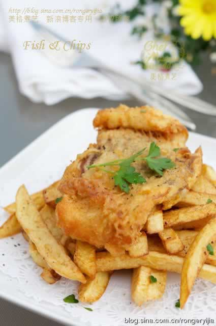 炸鱼薯条图片