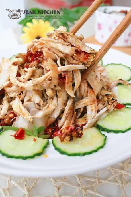 川味棒棒鸡的做法,怎么做,如何做,图解详细步骤 www.027eat.com