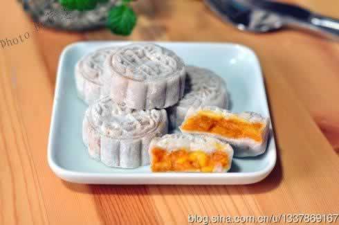 甜菊冰皮南瓜月饼的做法