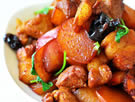 水萝卜烧肉的做法