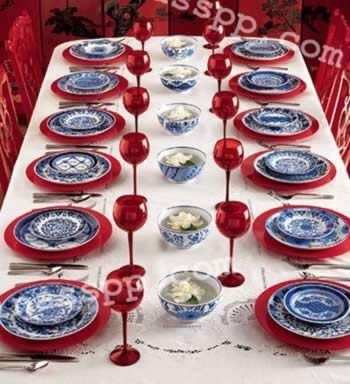 青花瓷餐具 彰显主人扮家品味